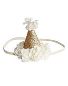 *Bailey's Blossoms Birthday Cone Crown - Ivory