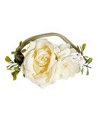 *Bailey's Blossoms Floral Stretch Headband - Ivory