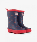 Hatley Rainboots - Red Labs (Size 8)