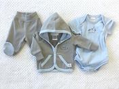 Itty Bitty Baby Newborn Blue Layette - Going to the Zoo