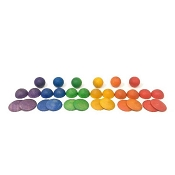 *Grapat Wood Coloured Rounds (30 Pieces)