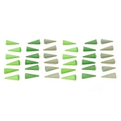 *Grapat Wood Mandala Cones - Green (36 Pieces)
