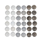 *Grapat Wood Mandala Stones - Greys (36 Pieces)