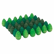 *Grapat Wood Mandala Trees - Greens (36 Pieces)