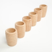 *Grapat Wood Natural Honeycomb Beakers (6 Pieces)