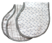 Buttons 100% Muslin Burp Cloth Bib Combo