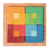 *Grimm's Small Square Learning Puzzle with Template