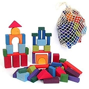 *Grimm's Geometrical Blocks Multi-Colour in Net Bag (60 pcs)