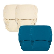 GroVia One-Size All-in-One Cloth Diaper 4-Pack