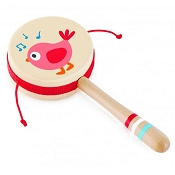 *Hape Twittering Bird Drum-Shaped Rattle