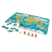 *Hape 2-in-1 World Tour Puzzle and Game