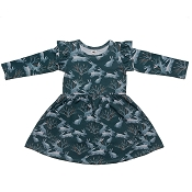 Little & Lively Harper Dress - Nordic Bunny