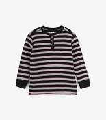 Hatley Black Striped Waffle Henley *CLEARANCE*