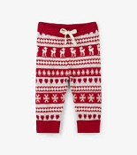Hatley Fair Isle Fawn Baby Sweater Leggings