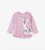 Hatley Pretty Deer Long Sleeve Tee