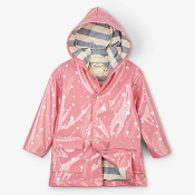 Hatley Metallic Stars Girls Raincoat (Size 5)