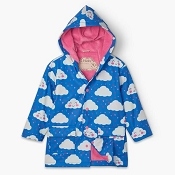 Hatley Kids Colour Changing Raincoat - Cheerful Clouds