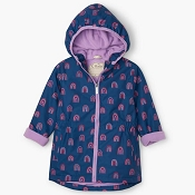 Hatley Kids Microfibre Rain Jacket - Rainbow Party