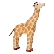 *Holztiger Giraffe with Raised Head