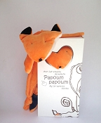 *Papoum Papoum My First Bamboo Blankie - Red Fox