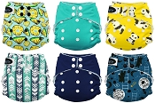Imagine Baby One Size 2.0 Bamboo All-in-One Cloth Diaper 6-Pack