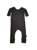Urban Baby Apparel Urban Romper - Basic Black in Bamboo