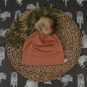 Little & Lively Pom Pom Beanie - Fox Brown *CLEARANCE*