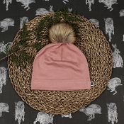 Little & Lively Pom Pom Beanie - Fig *CLEARANCE*