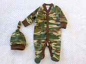 Itty Bitty Baby Camo Footie & Knottop