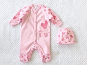 Itty Bitty Baby Baby Sweet Heart  Sleeper Set - Pink*CLEARANCE*