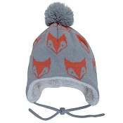 Jan & Jul Knit Hat with Ear Flaps - Fox
