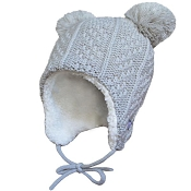 Jan & Jul Knit Hat with Ear Flaps - Grey Bear