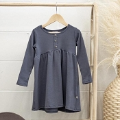 Jax & Lennon Peplum Dress - Blue (Size 0-6 Months) *CLEARANCE*