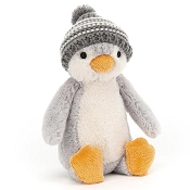 *Jellycat Bashful Bobble Hat Penguin - Grey - 7