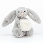 *Jellycat Bashful Grey Snow Bunny Small - 7