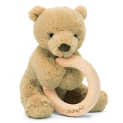*Jellycat Shooshu Bear Wooden Ring Toy - 6