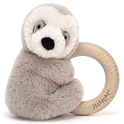 *Jellycat Shooshu Sloth Wooden Ring Toy - 6