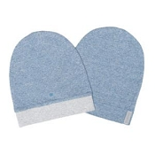 Juddlies Organic Raglan Slouchy Hat 2-Pack - Denim Blue