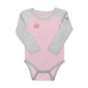 Juddlies Organic Raglan - Long Sleeve Body Tee - Dogwood Pink