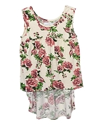 Bailey's Blossoms Kaylee High Low Top - Vintage Rose