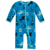 KicKee Pants Fitted Coverall - Amazon Cowboy (Zipper)