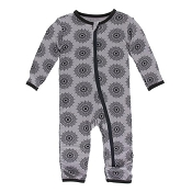 KicKee Pants Fitted Coverall - Feather Mandala (Zipper)