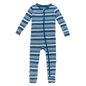 KicKee Pants Fitted Coverall - Fishing Stripe