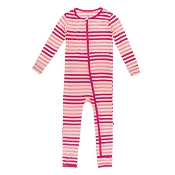 KicKee Pants Fitted Coverall - Forest Fruit Stripe