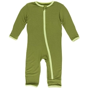 KicKee Pants Fitted Coverall - Grasshopper (Zipper)