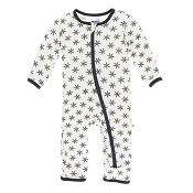 KicKee Pants Fitted Coverall - Natural Star Anise (Zipper)