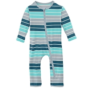KicKee Pants Fitted Coverall - Sport Stripe