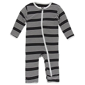 KicKee Pants Fitted Coverall - Zebra Agriculture Stripe (Zipper)