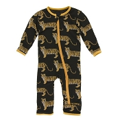 KicKee Pants Fitted Coverall - Zebra Tiger (Zipper)