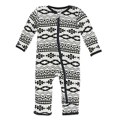 KicKee Pants Fitted Coverall - Mayan Pattern (ZIPPER)